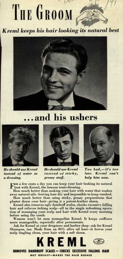 Kreml's hair tonic – The Groom (1941)