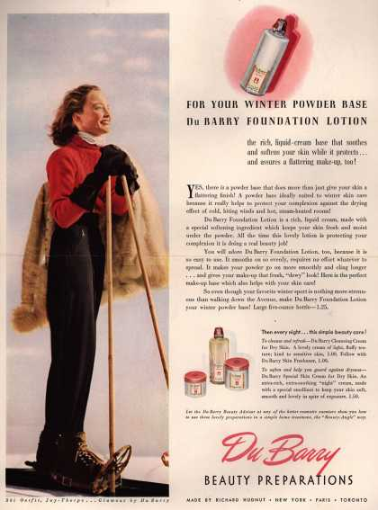Richard Hudnut's DuBarry Foundation Lotion – For Your Winter Powder Base DuBarry Foundation Lotion (1940)