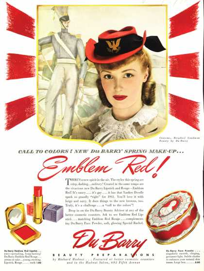 Richard Hudnut's DuBarry lipstick – Emblem Red (1941)