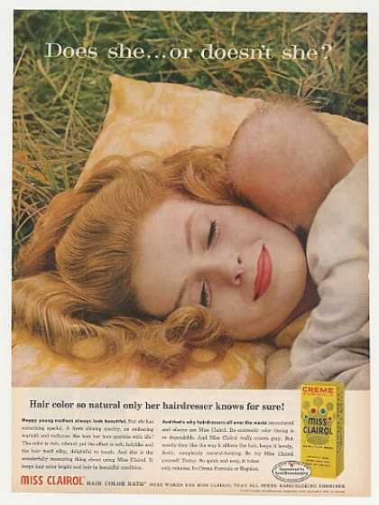 Miss Clairol Hair Color Does She Young Mother (1960)