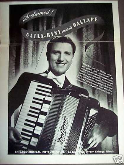 Galla Rini Photo Dallape Accordian (1948)