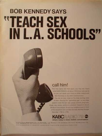"KABC Radio ""Teach Sex in L.A. Schools"" (1969)"