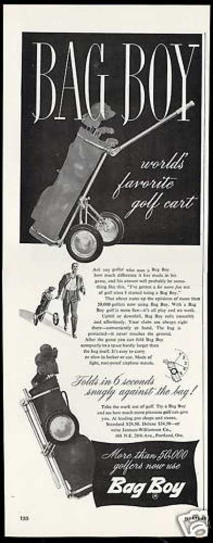Bag Boy Worlds Favorite Golf Cart (1949)