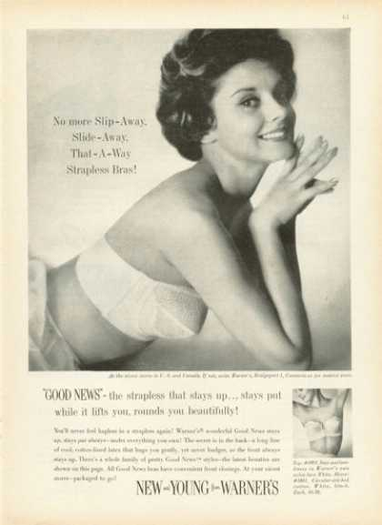 Warner's Strapless Bra Pretty Lady (1959)