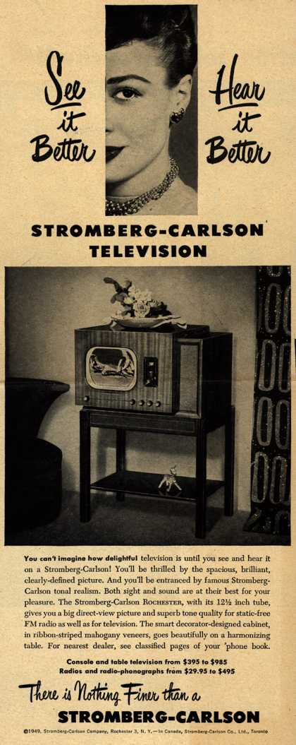 Stromberg-Carlson Company's Rochester – See it Better Hear it Better Stromberg-Carlson Television (1949)