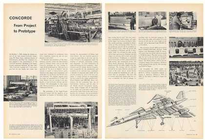Concorde Aircraft Project to Prototype 4-P Article (1966)