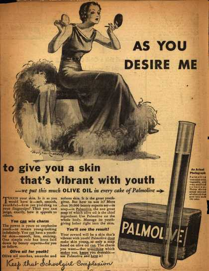 Colgate-Palmolive-Peet Company's Palmolive Soap – As You Desire Me (1932)