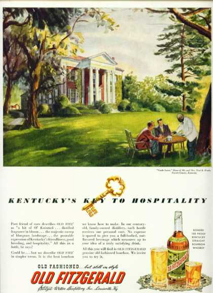Old Fitzgerald Kentucky Bourbon Whiskey C (1950)