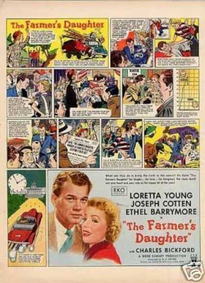 "Movie Ad ""The Farmer's Daughter"" Loretta Young (1947)"