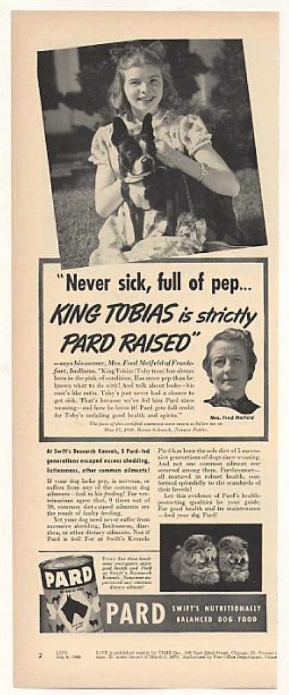 &#8217;40 Mrs Fred Meifeld Boxer King Tobias Pard Dog Food (1940)