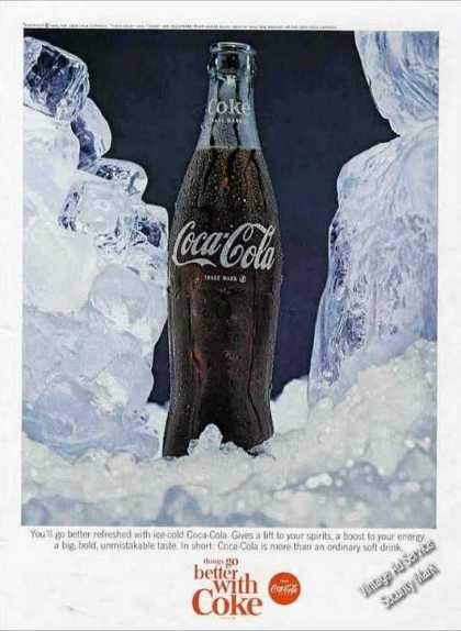Coke Coca-cola Surrounded By Ice (1965)