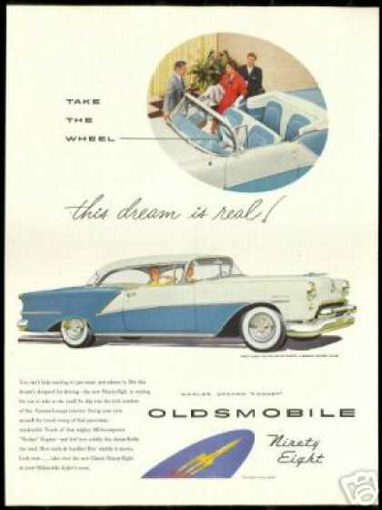 Oldsmobile 98 Ninety Eight Convertible & Coupe (1954)