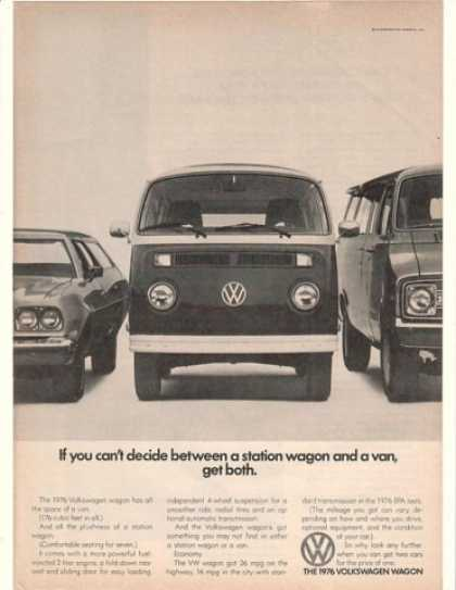 VW Volkswagen Station Wagon Van Get Both (1976)