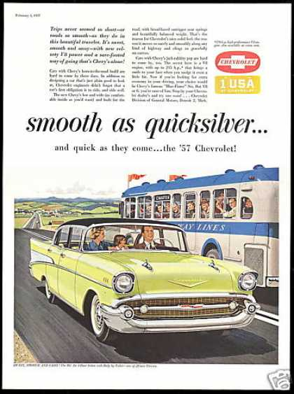 Chevrolet Bel Air 4 Door Sedan Car Bus (1957)