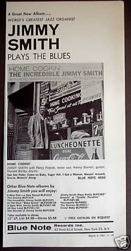 Jimmy Smith Home Cookin' Record Album Promo (1961)