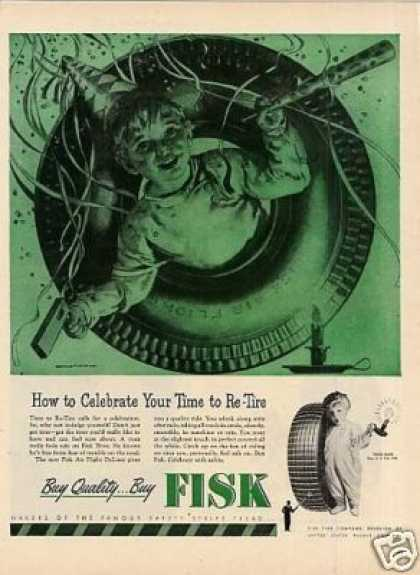 "Fisk Tire Ad ""How To Celebrate... (1946)"