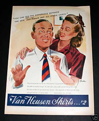 Van Heusen Shirts, Two Dollars (1941)