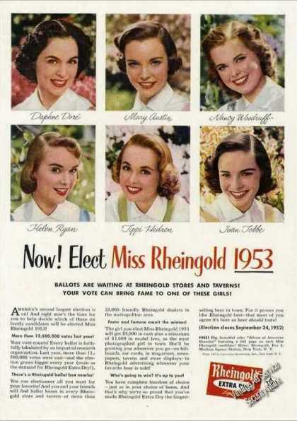 Miss Rheingold 1953 Candidate Photos Beer (1952)