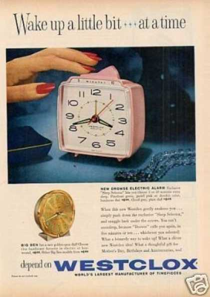 Westclox Alarm Clocks (1960)