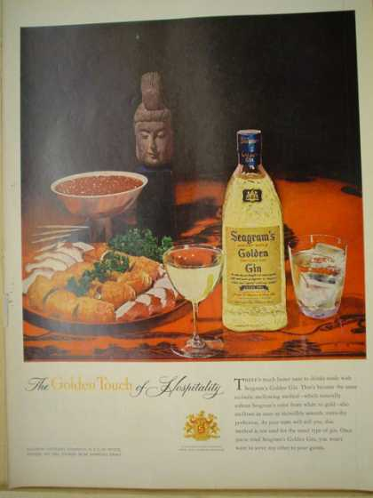 Seagram's Golden Gin The golden touch of hospitality (1957)