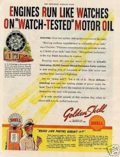 "Shell Ad ""Engines Run Like Watches... (1940)"