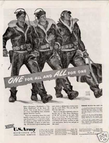 "U.s. Army Recruiting Ad ""One for All... (1942)"