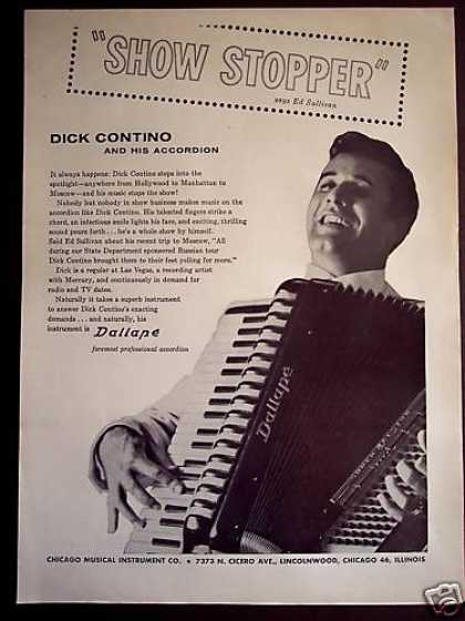 Dick Contino and His Dallape Accordion Photo (1960)