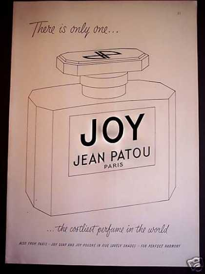 Joy Jean Patou Paris Perfume Bottle (1950)