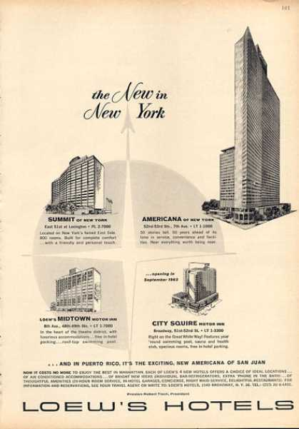 Loew's Hotels New York Squire Midtown Summit (1963)