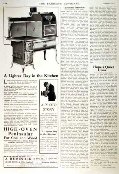 High Oven Peninsular Stove (1914)