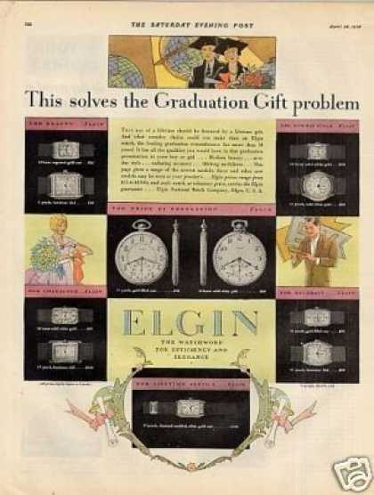 Elgin Watches Color (1928)