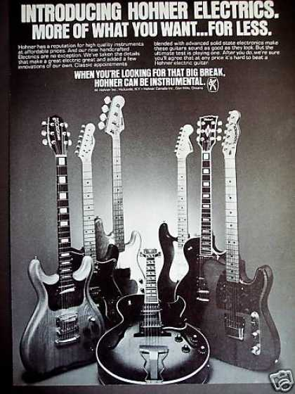 Hohner Electric Guitars Photo (1979)