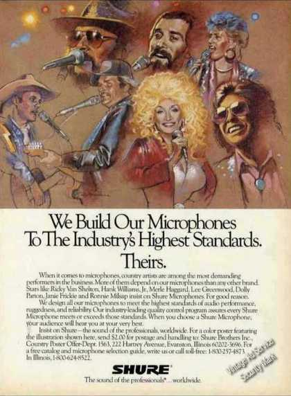 Country Music Stars Art Shure Microphones (1989)