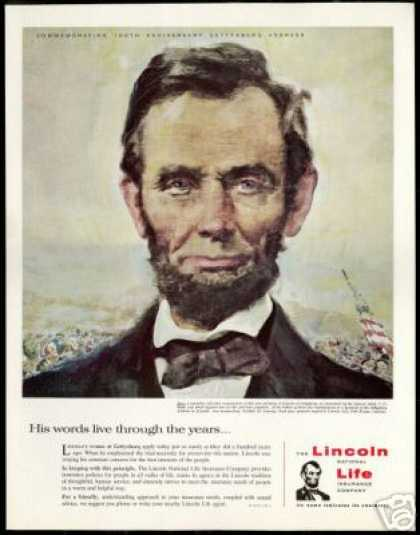 Gettysburg Abraham Lincoln National Life Ins (1963)