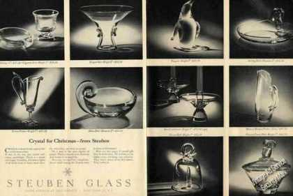 Steuben Glass Crystal for Christmas (10) Photos (1962)