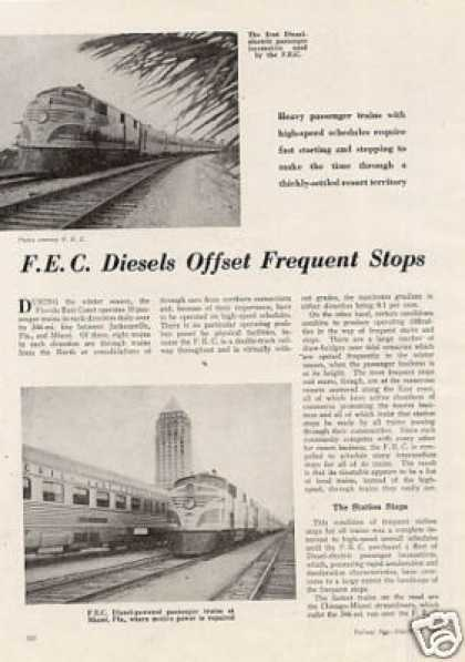 """F.e.c. Diesels Offset Frequent Stops"" Article (1947)"