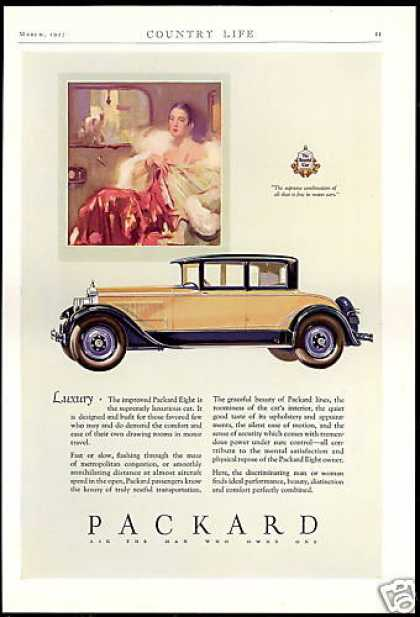 Packard Eight 2 Door Luxury Car Vintage (1927)