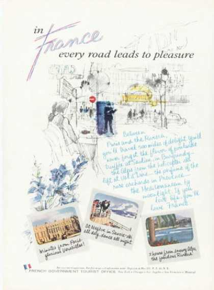 French Travel Every Road Leads 2 Pleasure (1958)