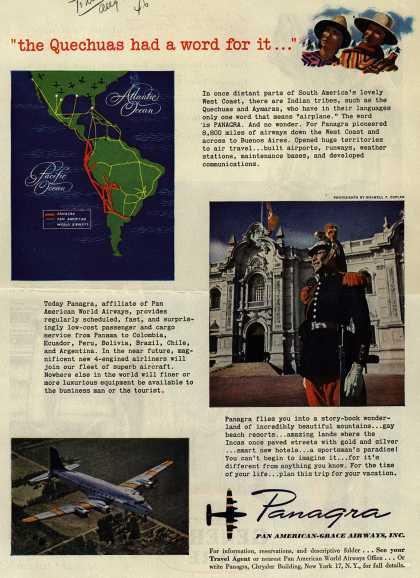 "Pan American Grace Airway's South America – ""the Quechuas had a word for it..."" (1946)"