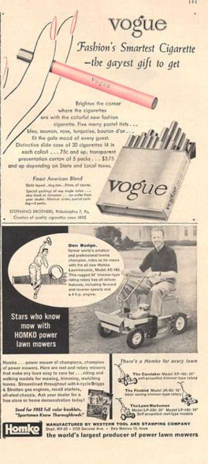 Homeko Lawnmower + Vogue Cigarette (1956)