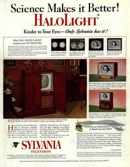 Sylvania Electronic Product's HaloLight television – Science Makes it Better (1952)