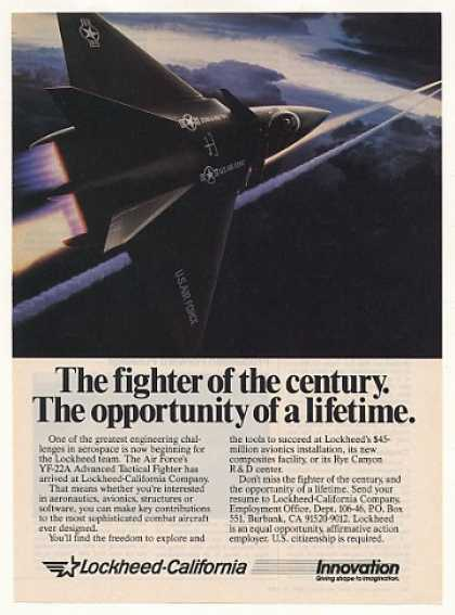 '87 Lockheed California US Air Force YF-22A Aircraft (1987)
