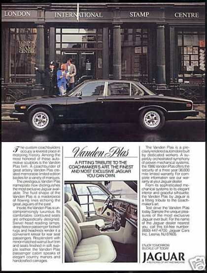 Jaguar Vanden Plas Car London Stamp Centre (1986)