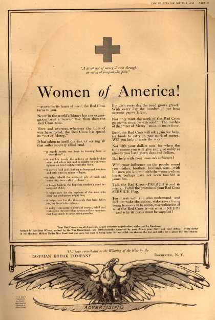 Kodak's Red Cross Support – Women of America (1918)