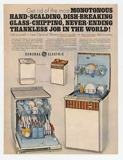 GE General Electric Mobile Maid Dishwashers (1967)