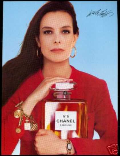 Chanel No 5 Perfume Bottle Carole Bouquet (1987)