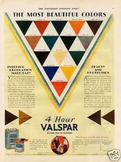 Valentine's Valspar Varnish Color (1928)