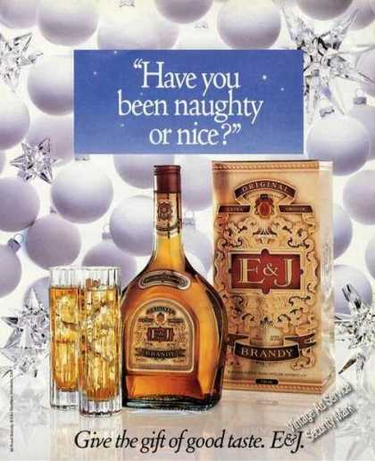 E&j Brandy Naughty or Nice (1989)