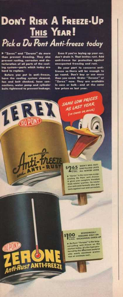 Dupont Zerex Anti Freeze (1942)