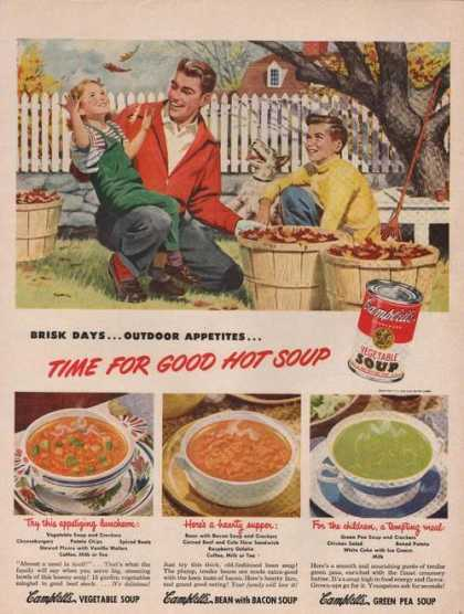 Time for Good Hot Soup Campbells (1949)